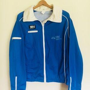 Other - Men's VTG NBC sports track running jacket Sz L